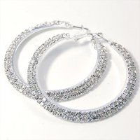 Glitz and Glam Hoop Earrings