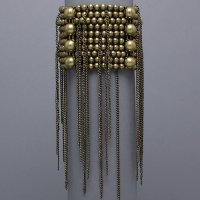 Beaded Rain Gold Burnished Stretch Bracelet