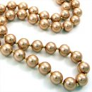 Large Gold Glass Pearl Necklace