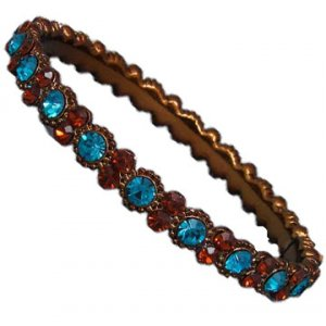 Daisy Bling Brown and Smoked Topaz Bangle