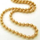 Gold Glass Pearl Necklace