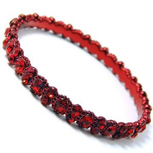 Daisy Bling Red Bangle
