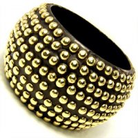 Stud's Wood Brown Bangle