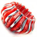 Concertina Coral Stretch Bracelet