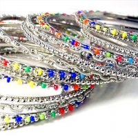 India Quest 15 Rhodium Plated Bangles