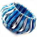 Concertina Blue Stretch Bracelet