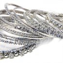 India Quest 17 Burnished Silver Bangles