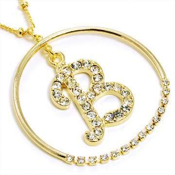 gold alphabet bling necklace letter b nk alphabetbling goldb 1