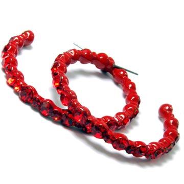 Hoop Earrings on Red Mosiac Rhinestone Hoop Earrings  Hp Mosiacrhinestones Red Pr